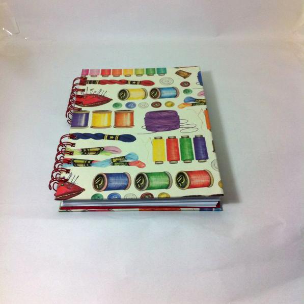 cuaderno de costura de cartonaje