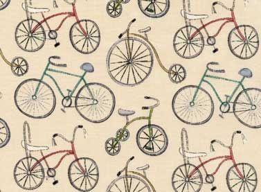Tela bicis patchwork para productos infantiles