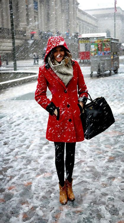 abrigo rojo red coat