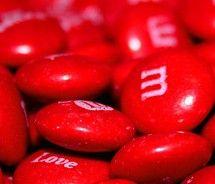 mandms rojos san valentin