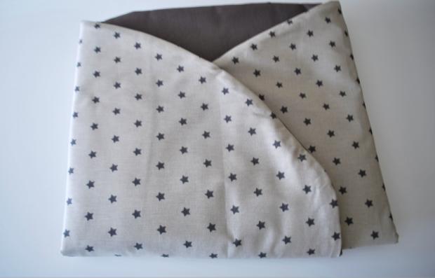 arrullo de bebe de algodon estrellas hecho a mano