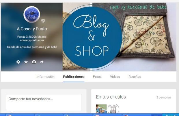 A Coser Y Punto Google+