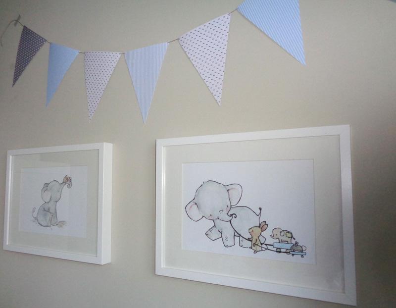 Ilustraciones infantiles para el cuarto del bebé – A CoSer y Punto