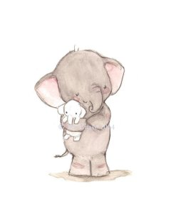 lamina decorativa cuarto bebe elefante peluche