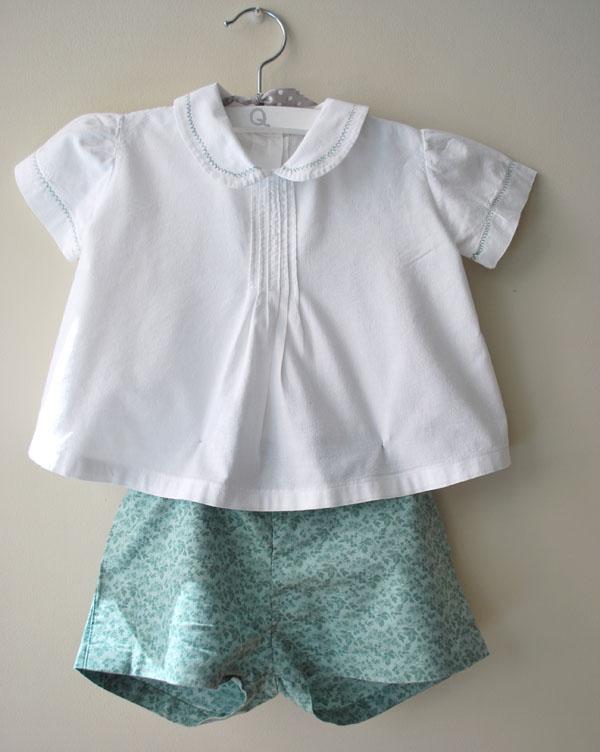 conjunto pantalon y camisita verde hecho a mano handmade