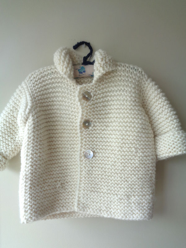 abrigo lana hueso amano handmade