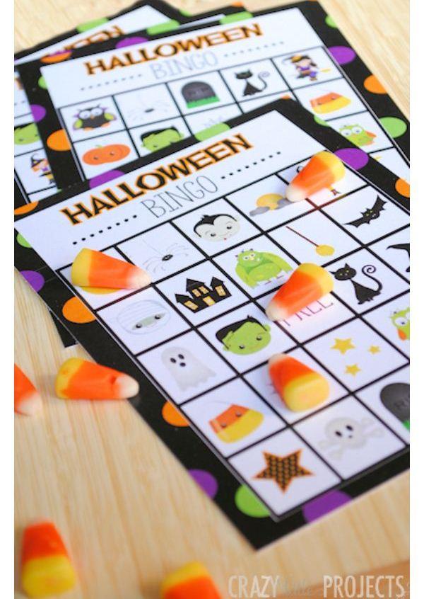 bingo crafts halloween