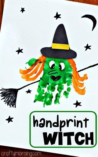 mano bruja crafts halloween