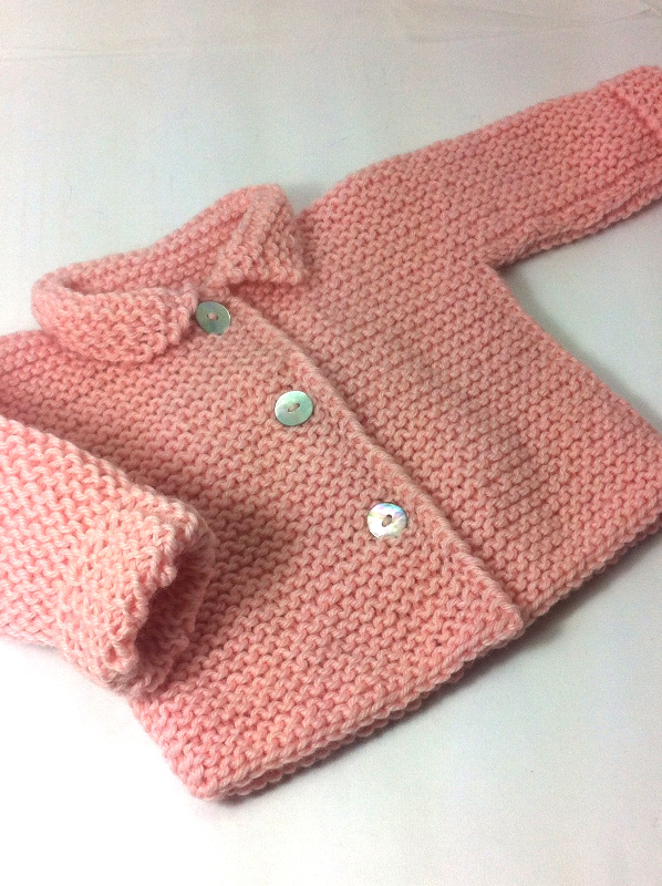 jersey chaqueton rosa bebe a mano_O