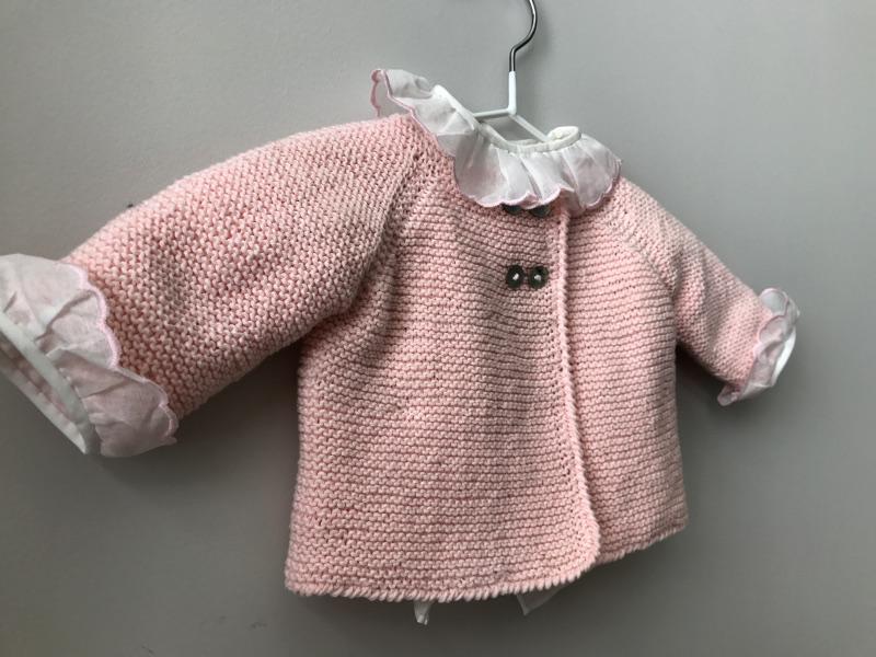14250ce85 ... jersey doble-botonadura-rosa-punto-algodon-hecho-a-mano ...