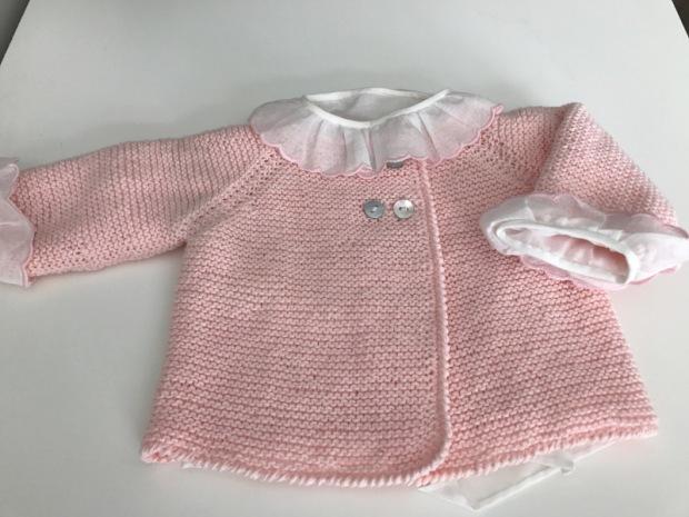 jersey doble-botonadura-rosa-punto-algodon-hecho-a-mano